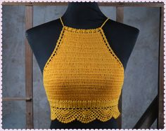 crochet halter top - Google Search                                                                                                                                                      More