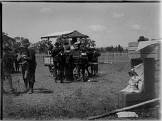 The ice cream Sundae was invented on this day in 1881 in Wisconsin, USA. I couldn't find an ice cream sundae photo to commemorate this milestone, but here's a great photo of an Ice Cream cart at a fair in Bacchus Marsh, c. 1900.  Love this photo!  State Library of Victoria Image H92.320/59