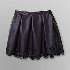 Dream Out Loud by Selena Gomez Junior's Pleated Faux-Leather Miniskirt - Clothing - Juniors - Skirts