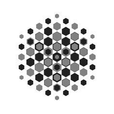 more hexagons/cubes