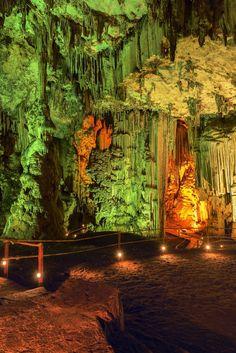 Melidoni cave in Crete, Greece