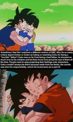 Goku, Gohan, and Goten. Sure, Goku was absent but his sacrifice made a future for these kids and he still loves them all the same. Dragon Ball Z, Gohan And Goten, Dbz Memes, Super Anime, Manga Anime, Db Z, Film D'animation, Nerd, Good Good Father