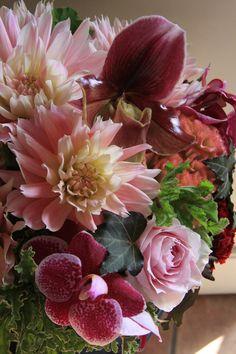 .designer pink flowers
