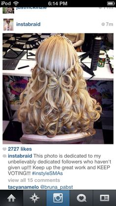 In love with this pageant hair#amazing