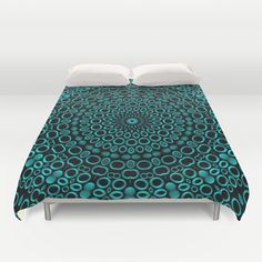 Teal Mandala Duvet Cover by Lyle Hatch - $99.00
