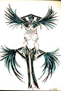 Green Diamond Showgirl Finale Costume