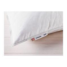 IKEA - JORDRÖK, Oreiller, ferme, Grand deux places, , Cet oreiller au garnissage généreux est idéal si vous préférez dormir sur un oreiller assez ferme.Cet oreiller modelable vous offre un bon soutien grâce à la grande proportion de plumes contenues dans le garnissage qui permettent aussi d'évacuer l'humidité.Le garnissage et la housse en coton respirent et permettent à l'air de circuler, procurant un environnement de sommeil sec à la température constante.Cet oreiller est…