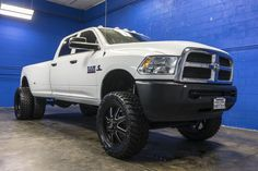Used 2015 Dodge Ram 3500 Dually with miles at Northwest Motorsport in Lynnwood, WA. Buy a used White Dodge Ram. Diesel Trucks For Sale, Dodge Diesel Trucks, Dually Trucks, Powerstroke Diesel, Cummins Diesel, Diesel Cars, Diesel Vehicles, Lifted Cummins, Lifted Chevy Trucks