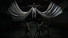 The Angel of Exuberance...Gareth Pugh 2015 show at New York Fashion Week.