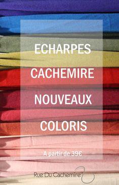 Un large choix de couleur ! Écharpes et étoles 100% cachemire.