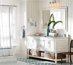 Newport Double Sink Console   Pottery Barn