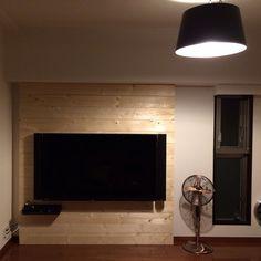 女性で、の2×4材/その4/DIY/壁掛けテレビ/14日目/テレビ台…などについてのインテリア実例を紹介。