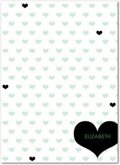 Heartwarming Message - Personalized Notepads in Spring Green or Iris | Ampersand Design Studio