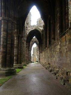 The Whitby Abbey Ruins, Whitby, North Yorkshire, England. Still majestic! Abandoned Buildings, Abandoned Places, Whitby Abbey, Old Churches, England And Scotland, Beautiful Architecture, Places To See, Countryside, Whitby England