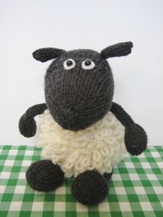 Loopy the Sheep toy knitting pattern - knit a little Easter lamb with this pattern from fluff and fuzz