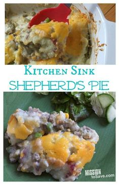 Home Made Doggy Foodstuff FAQ's And Ideas This Kitchen Sink Shepherd's Pie Recipe Is Perfect Comfort Food And Uses Items In Your Pantry Right Now. Extraordinary For Stockpile Cooking, St. Patrick's Day Or An Easy Weeknight Meal. Pie Recipes, Crockpot Recipes, Great Recipes, Delicious Recipes, Recipe Ideas, Freezer Recipes, Easy Recipes, Yummy Food, Favorite Recipes