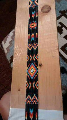 off loom beading techniques Loom Bracelet Patterns, Seed Bead Patterns, Bead Loom Bracelets, Beading Patterns, Beading Ideas, Jewelry Patterns, Beading Supplies, Indian Beadwork, Native Beadwork