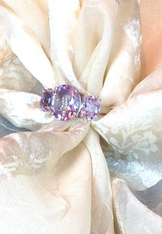 Rose de France Amethyst Ring Handmade Jewelry by NorthCoastCottage, $299.00