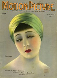 Motion Picture Magazine Cover - May 1923 - Featuring Alla Nazimova by Hal Phyfe