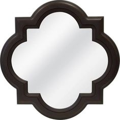 MCS Mirrors Province 29.75 in. x 29.75 in. Quatrefoil Framed Mirror in Bronze 82027