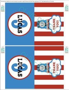 Thomas The Train Birthday Party Thank You Cards by olivepresspaper, $12.75