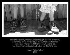 I remember putting my little feet in my Daddy's big ol' shoes.  I miss so many things about him.  I love you Daddy <3
