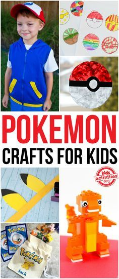 Do you have a Pokemon obsessed kid at home? Check out these awesome Pokemon crafts for kids!  From homemade pokeballs to no-sew costumes and LEGO pokemon creations, we've found the very best tutorials for all things Pokemon.