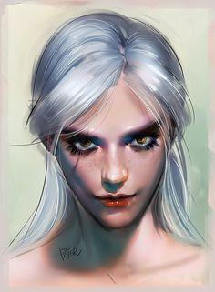 Ciri by superschool48.deviantart.com on @DeviantArt - More at https://pinterest.com/supergirlsart #witcher #fanart #portrait