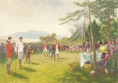 """The Clubs The Thing"" painting by Henry Sandham (1842-1912)"