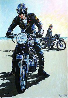 Cafe Racer Art | Cafe racer art | Cafe Racer Art (Ton up) | Pinterest