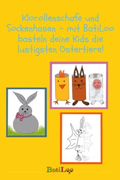 So macht das Warten auf Ostern richtig Spaß: Die Bastelanleitungen von BatiLoo für Sockenhasen und Tiere aus leeren Klopapierrollen! Tricks, Comics, Lenten Season, Kids Discipline, Happy Easter, Waiting, Cartoons, Comic, Comics And Cartoons