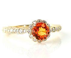 14K Diamond Halo Semi Mount Engagement Ring 18K by RareEarth, $778.00 | http://awesome-diamonds-gallery.blogspot.com