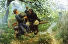 Hand-Painted oil painting reproduction of Tanner, Henry Ossawa The Bagpipe Lesson for sale,museum quality painting, oil on canvas African American Artist, American Artists, Henry Ossawa Tanner, Renaissance Artists, Harlem Renaissance, Art Database, Oil Painting Reproductions, Realism Art, Banjo