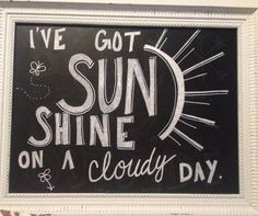 My new chalkboard saying for Spring and summer!