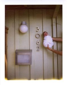 Baby's first home photo, adorable! Cute and simple :)