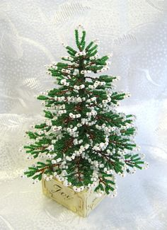 Christmas tree stood in the dance | biser.info - all about beads and beaded works