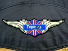Patch, Triumph Wings, Sew On, Rockers Insignia