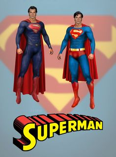 """YES THIS IS WHAT SUPERMAN SHOULD HAVE LOOKED LIKE AND HE IS  A WHOLE  LOT BETTER LOOKING WITH THE RED BRIEFS AND THE """"S"""" AS WELL"""