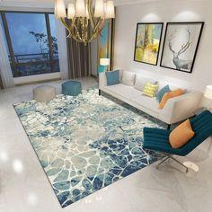 Living Room Carpet, Living Room Bedroom, Modern Prints, Modern Rugs, Hall Flooring, Duck Egg Blue Rugs, Patterned Carpet, Bedroom Office, Indoor Rugs