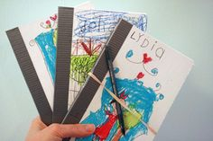 Homemade sketch books.  So low tech but great idea (video tutorial)