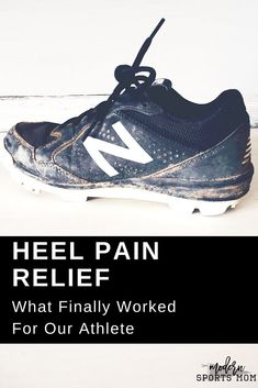 Whether it's Plantar Fasciitis or Sever's Disease, heel pain is hard to deal with, especially in children. We finally found a solution for our young athlete's heel pain, and are sharing what worked for us to find relief and get our kiddo back to playing the sports he loves! #heelpain #severs #kidssports #youthsports #plantarfasciitis #heelcups
