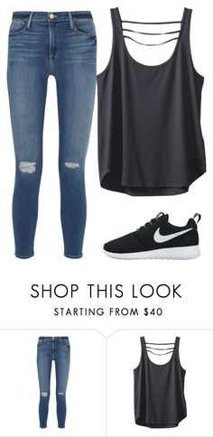 """""""Untitled #298"""" by jasmine-rlrh ❤ liked on Polyvore featuring Frame Denim, Kavu and NIKE"""