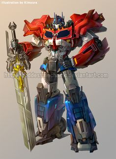 TFP 3 Optimus prime by *GoddessMechanic on deviantART The best word for this version of him is SEXY. Sexy mech is sexy.