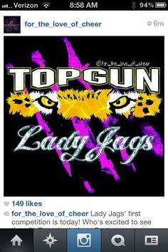 Good Luck Lady Jags at your first cheer competition! #tglj #ladyjags #topgun #cheer