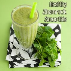 Om Nom Ally - Healthy Shamrock Smoothie        This isn't your McDonald's Shamrock Shake – it's better! This minty smoothie is creamy and refreshing – good enough to enjoy year around!