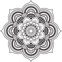 MANDALA DESIGN BLACK WHITE -