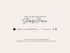 SCD of Marilyn Monroe | Website Design | Footer: