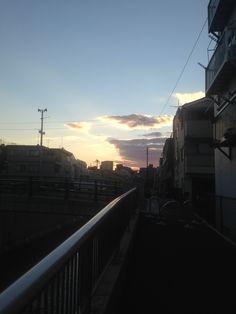 Sunset. Nakano, Tokyo.