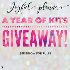 Check out this giveaway from @joyfulplanner #JoyfulPlannerStickersForAYear