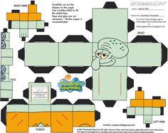 SS: Squidward Tentacles Cubee by TheFlyingDachshund.deviantart.com on @deviantART